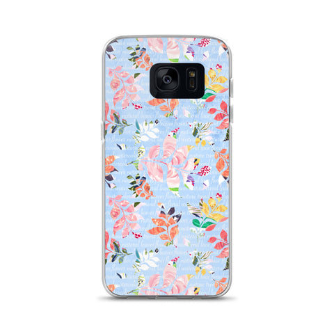 Blue Watercolor Samsung Case