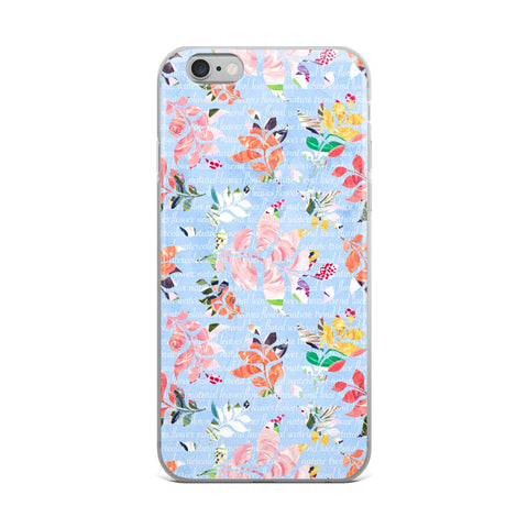 Blue Watercolor Floral iPhone Case