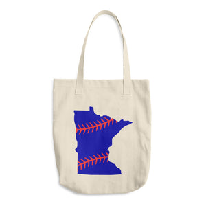 Minnesota Baseball Cotton Tote Bag