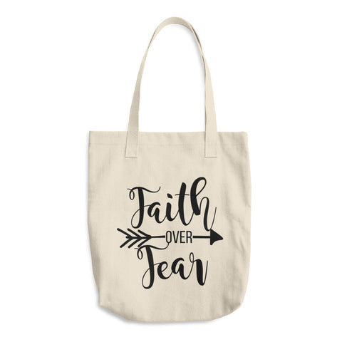 Faith Over Fear Cotton Tote Bag