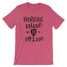 Working Nine to Wine Tee (Variety of Colors)