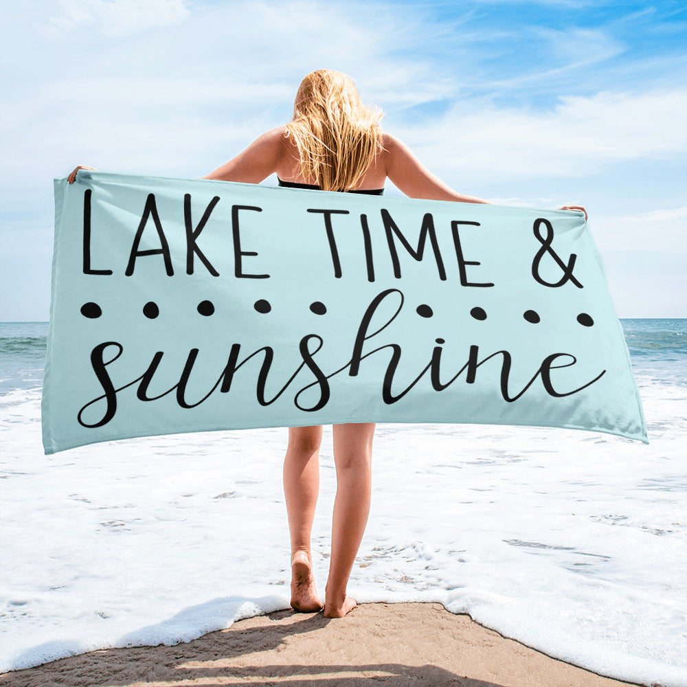 Lake Time & Sunshine Towel