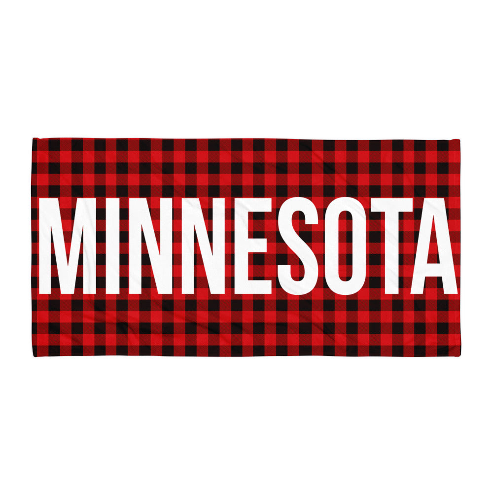 Minnesota Plaid Towel