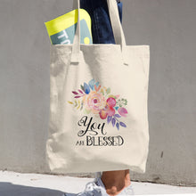 You Are Blessed Cotton Tote Bag