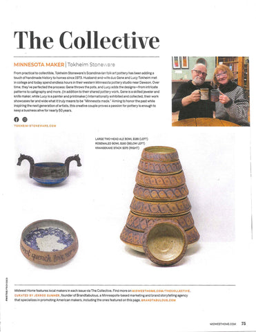 Midwest Home January | February 2021 | The Collective | Minnesota Maker | Tokheim Stoneware