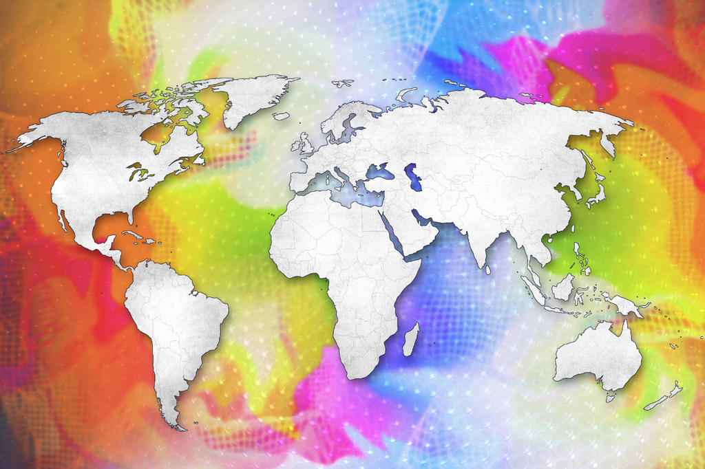 Colorful world map 1001 goi canvas colorful world map 1001 previous gumiabroncs Gallery