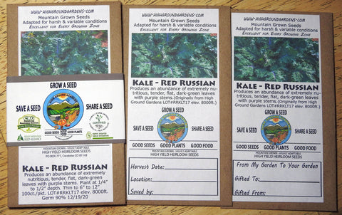 Kale - Russian Red Share A Seed 3 Pack
