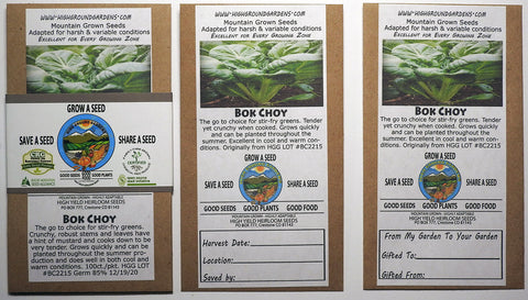 Bok Choy Share A Seed 3 Pack