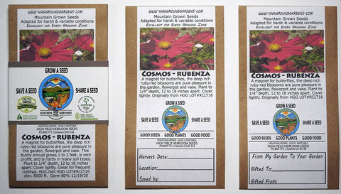 Cosmos - Rubenza Share A Seed 3 Pack
