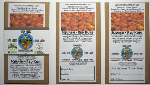 Squash - Red Kuri Share A Seed 3 Pack