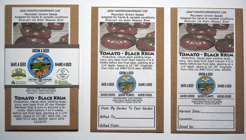 Tomato - Black Krim Share A Seed 3 Pack