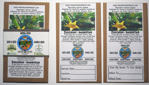 Zucchini - Darkstar Share A Seed 3 Pack