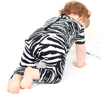 Unisex zebra playsuit