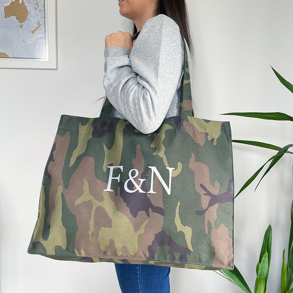 F&N Camo Shopping Bag