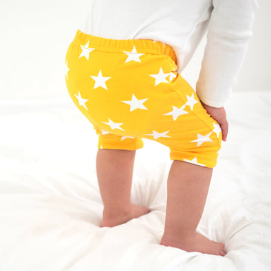 Yellow star Child & baby Shorts