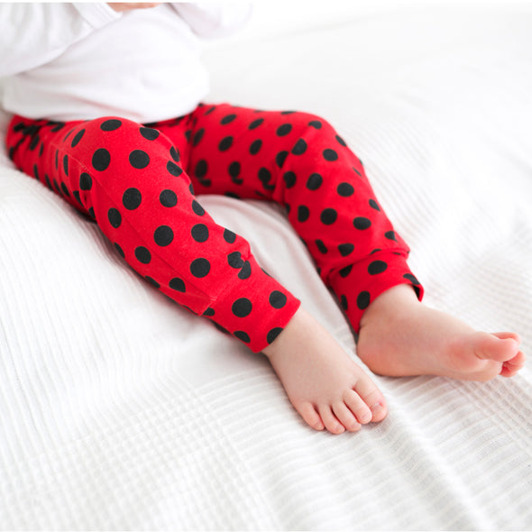 Red Polka Dot Child & Baby Leggings