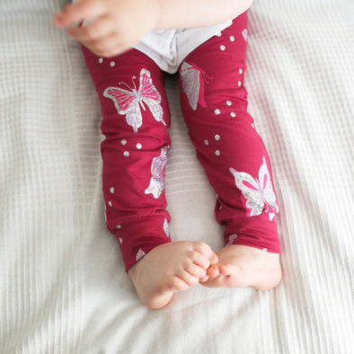 Foil Butterfly Child & Baby Leggings