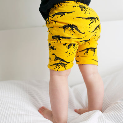 Bright Yellow Dino Shorts