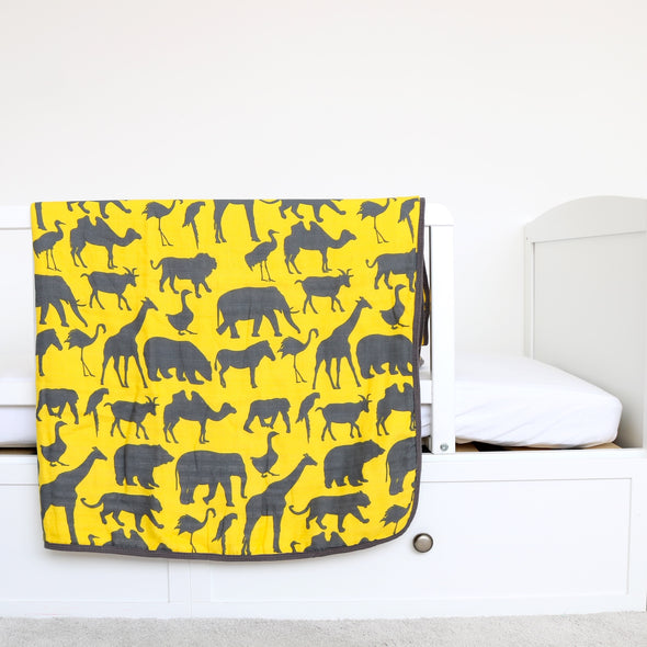 Yellow Safari Organic Quilt