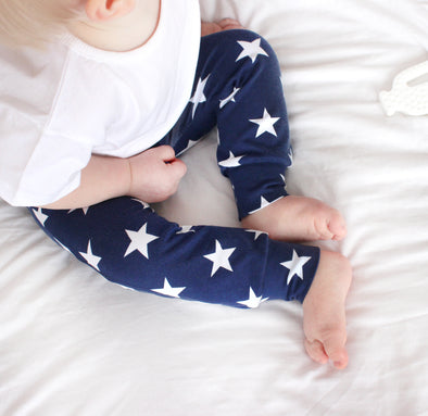 Navy star Print Baby Leggings