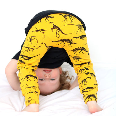 Bright yellow Dino Leggings