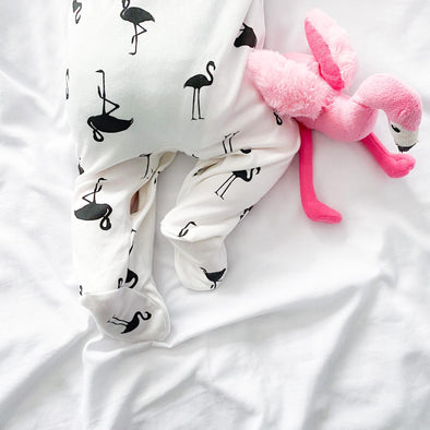 Flamingo cotton sleepsuit