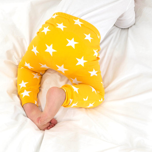 Yellow star Print Baby Leggings