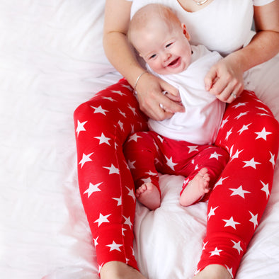 Grown up Red star print Leggings - Fred & Noah