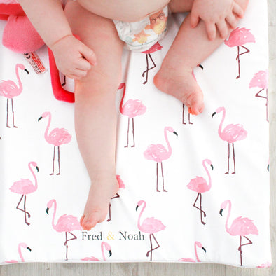 Flamingo print Changing Mat ( All sizes)
