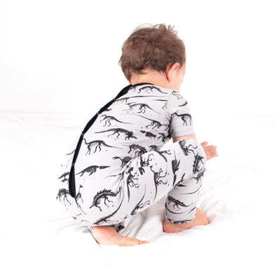 Grey Dino playsuit