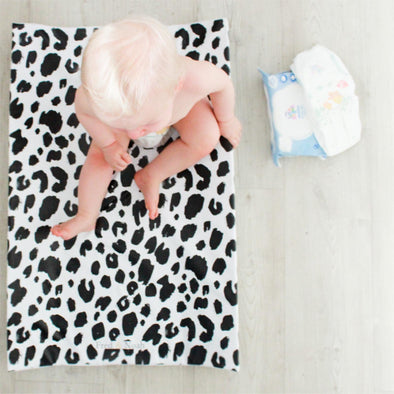 Mono Leopard print Changing Mat ( All sizes)