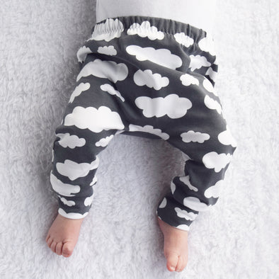 1c18364903369 Grey Cloud Print Baby Leggings - Fred & Noah
