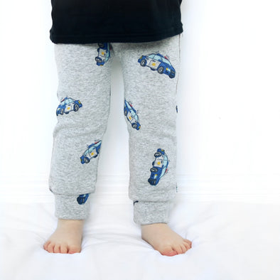 SALE Extra warm Police car Leggings