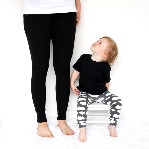 Plain Black Adult Leggings