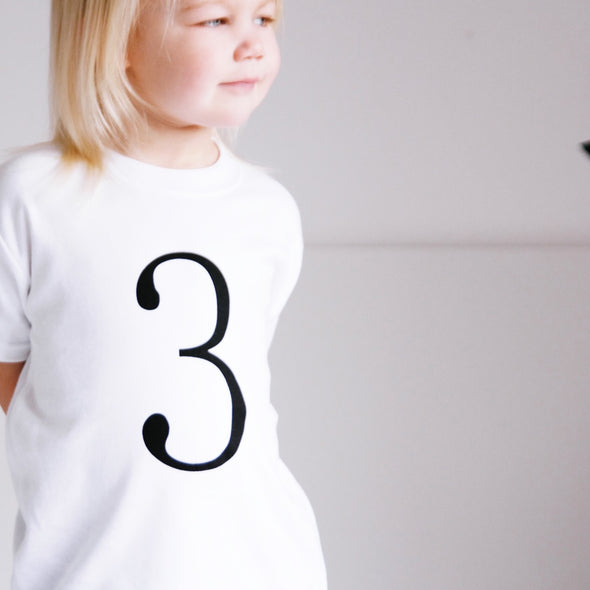 Birthday number 3 top ( all colours ) - Fred & Noah