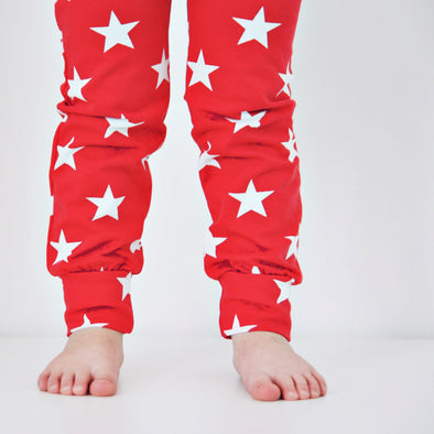 Red star Print Baby Leggings - Fred & Noah