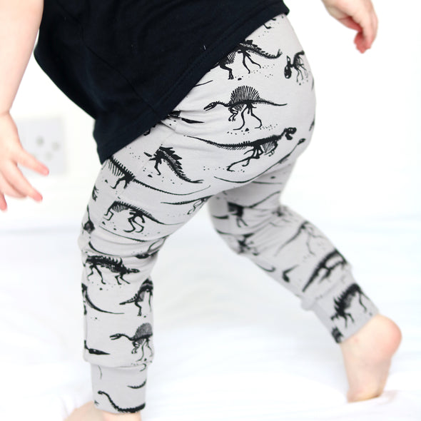Grey Dino Child & Baby Leggings
