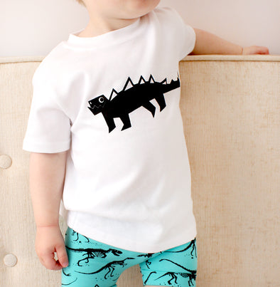White Dino T shirt - Fred & Noah