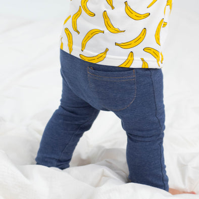 Dark Blue Child & Baby cotton Jeggings
