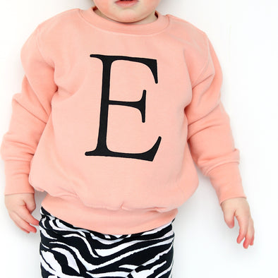 Coral pink Personalised sweatshirt