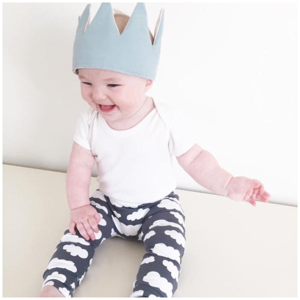 Grey Cloud Print Baby Leggings - Fred & Noah