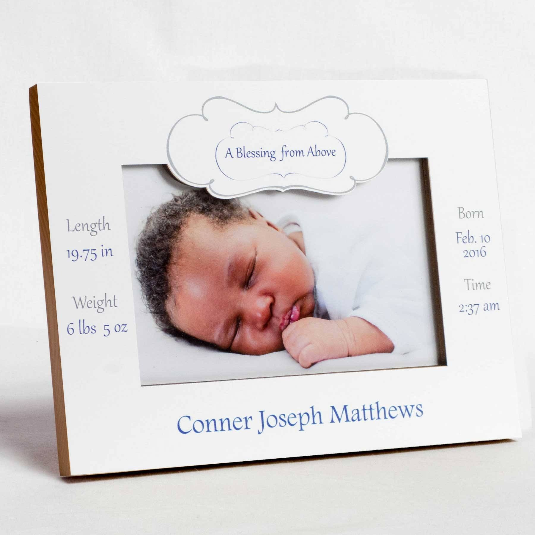 A Blessing from Above Boy Birth Frame | Studio1workshop ...