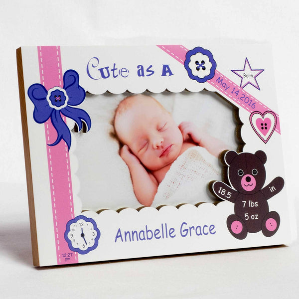 Girls Birth Frame Collection | Studio1workshop | Personalized Baby ...