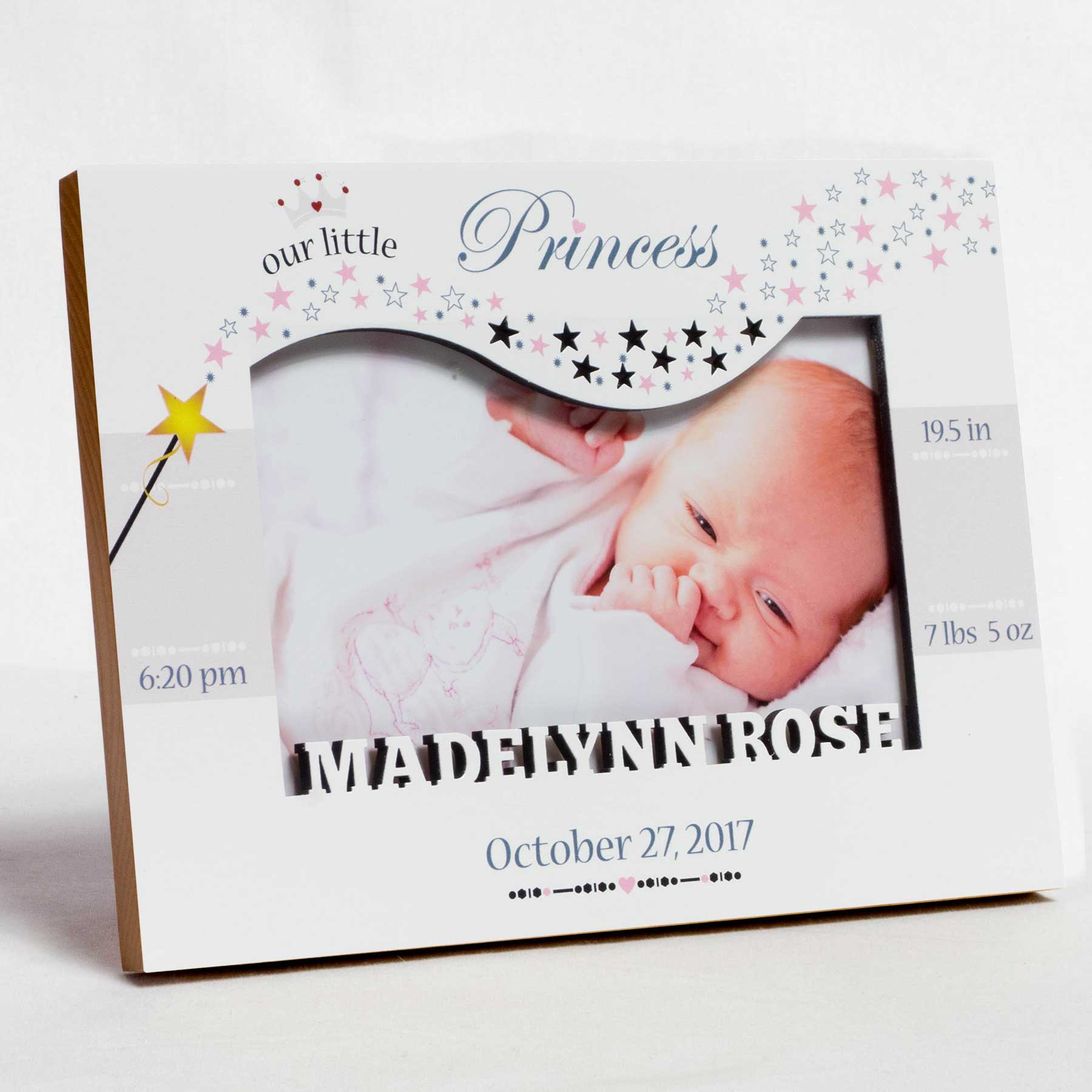 Birth Frame - Our Little Princess - Name Cut Out   Studio1workshop ...