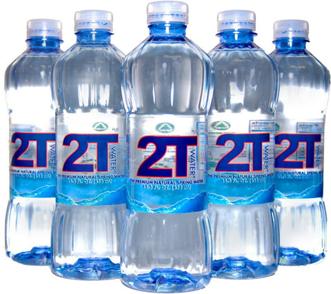2T Water H2O -  The Premium Natural Spring Water  (Case)