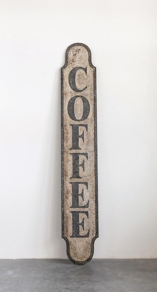 Weathered Tin Coffee Sign