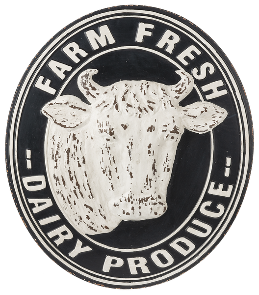 Farm Fresh Distressed Embossed Sign