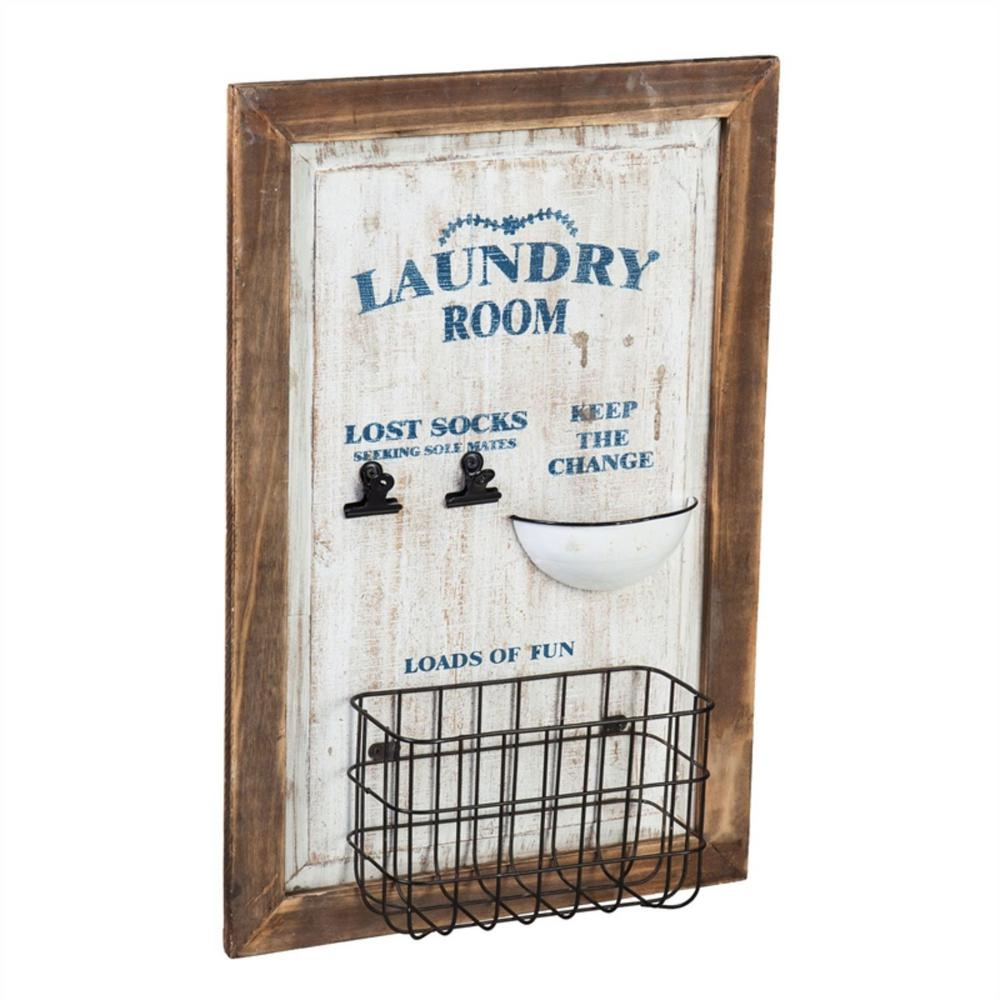 Laundry Room Wall Organizer