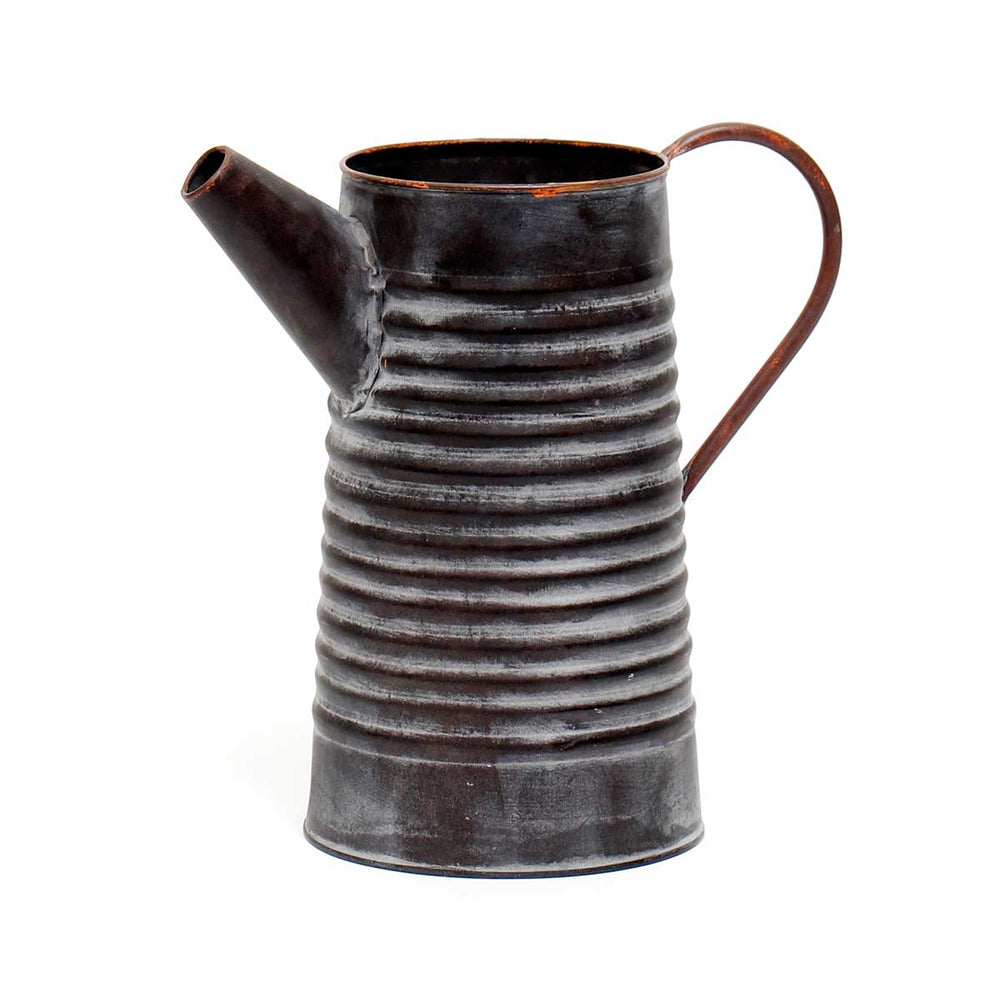 Metal Ribbed Pitcher Lg