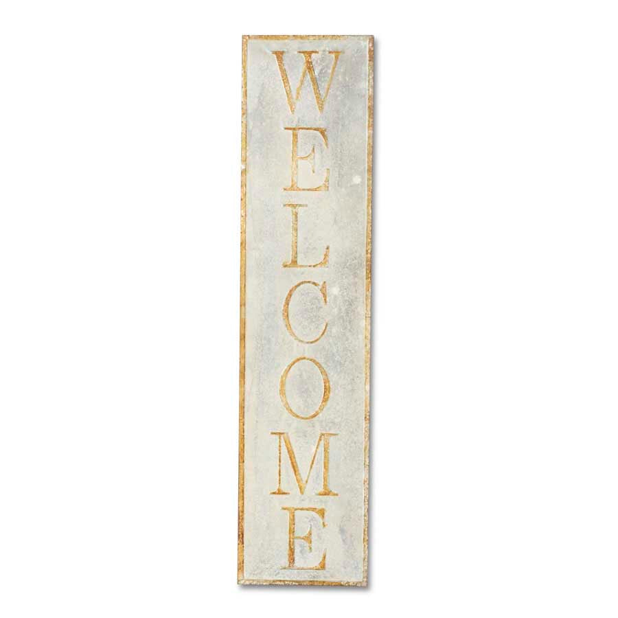 Weathered Tin Welcome Sign